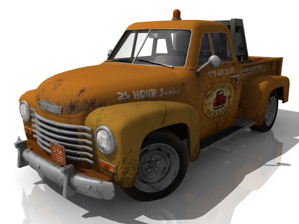 3d 1949 Chevy Pick Up Roadside Pickup Truck
