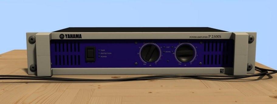 yahama power amplifier 3d obj