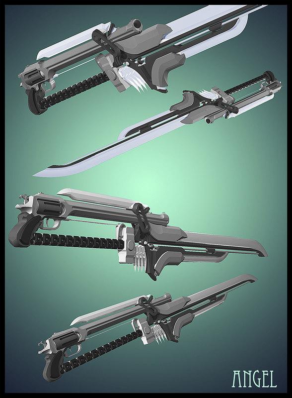 3ds max angel sword