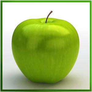 apple green 3d obj