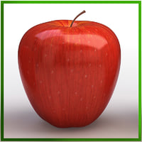 apple red 3d max