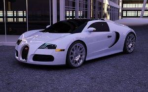 3d bugatti veyron grand sport