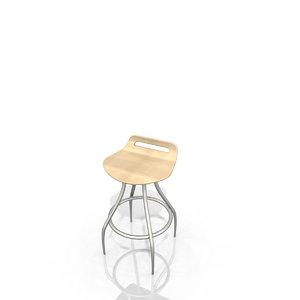 cort gin bar stool 3d fmz