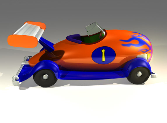 maya cartoon car