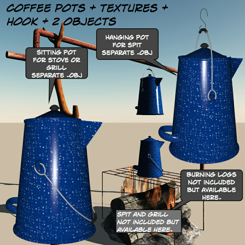 coffeepot coffee pot 3d obj