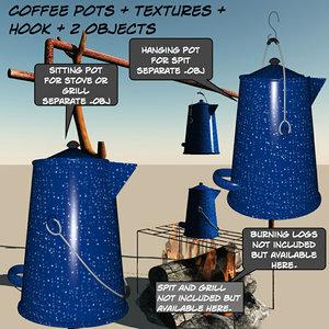 coffeepot coffee pot 3d obj