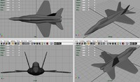 free f-18 fighter 3d model