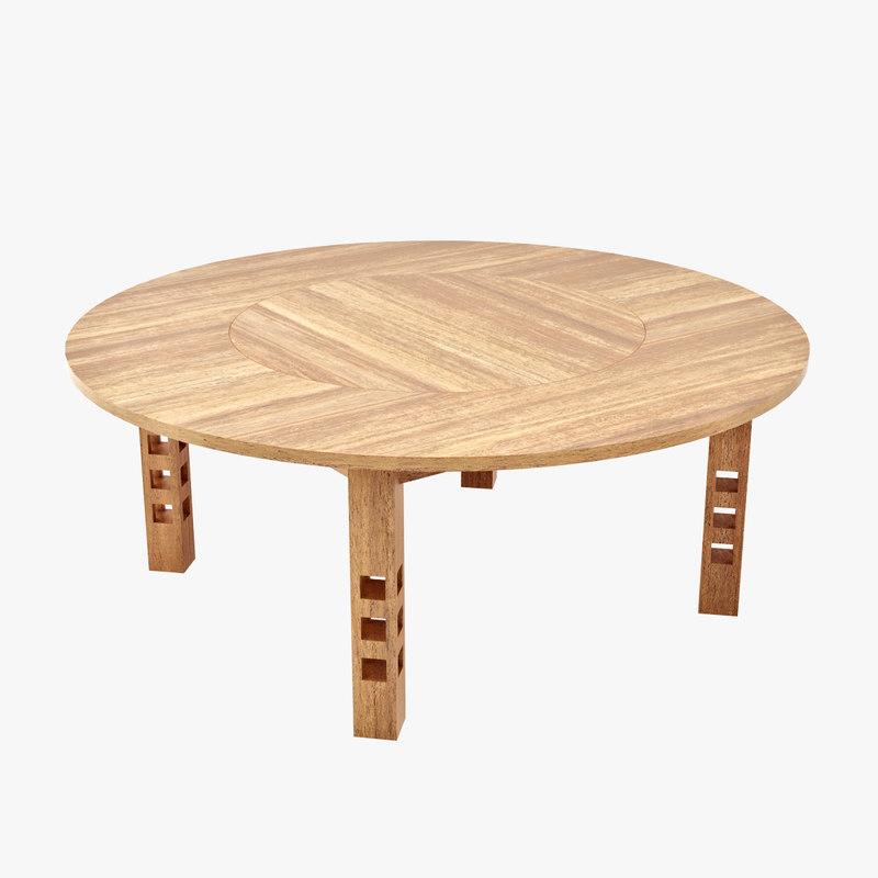 charles rennie table 3d model