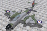 armstrong whitworth meteor nf11 3d model
