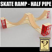 3d skate ramp - half pipe