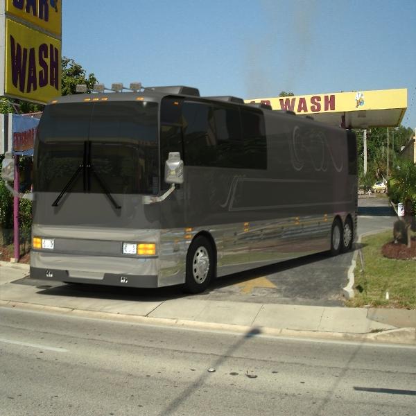prevost mirage mkii tour bus 3d model