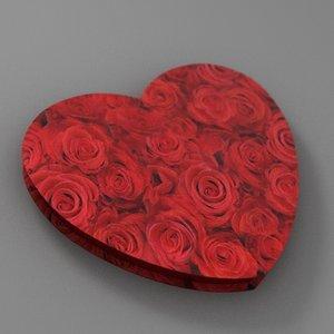valentines heart 3d max