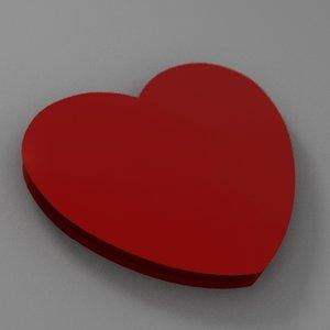 3ds valentines heart