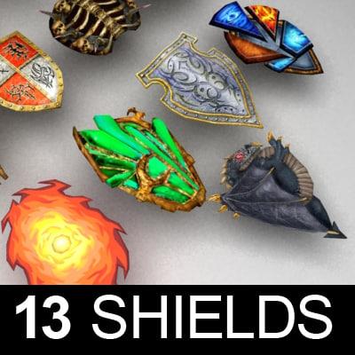 3d fantasy shileds