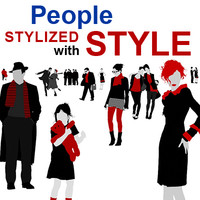 people stylized with style