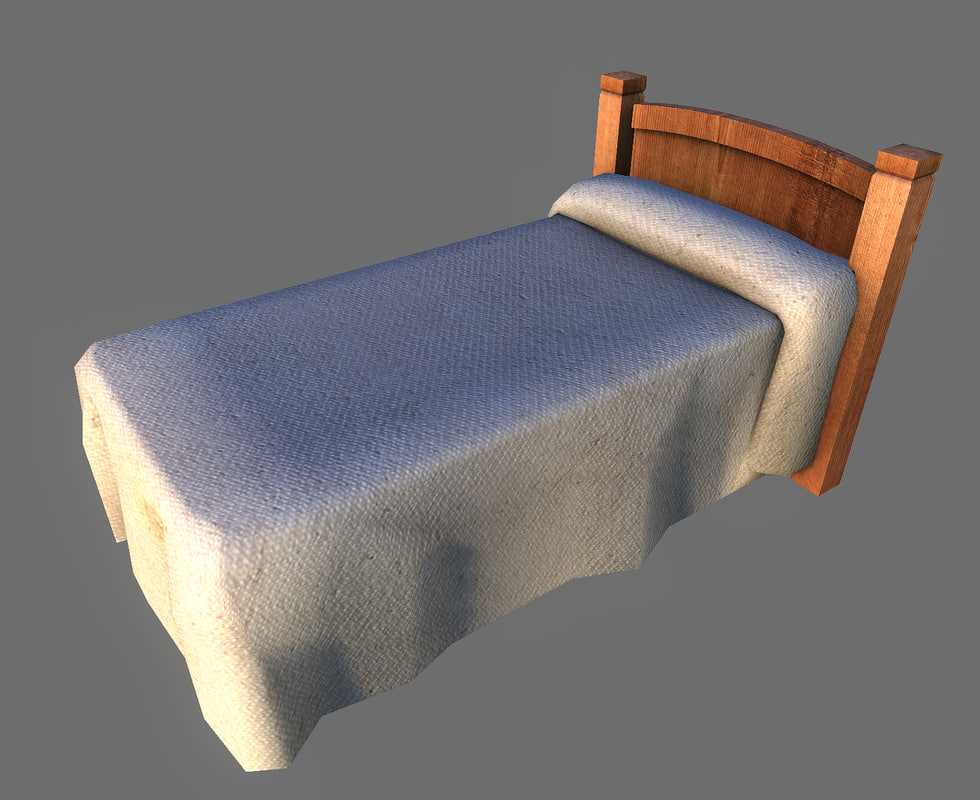 3ds max twin bed