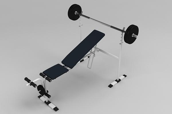 adjustable bench 3d model