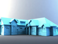 3d suburban home