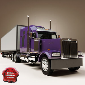3d western star 4900 trailer