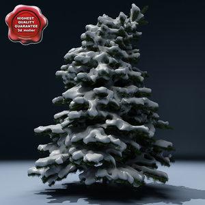 winter tree v5 3d model