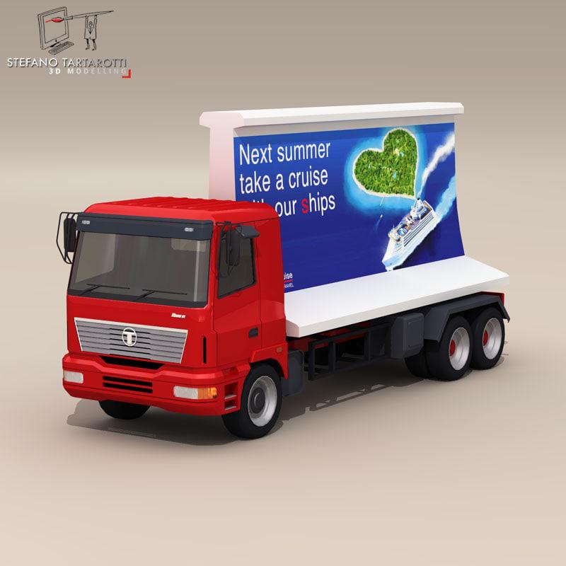 3d model advertisment truck