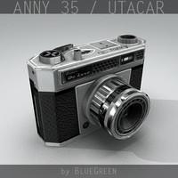 anny 35 utacar vintage camera 3d max