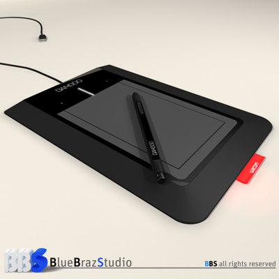 3ds max bamboo pen tablet