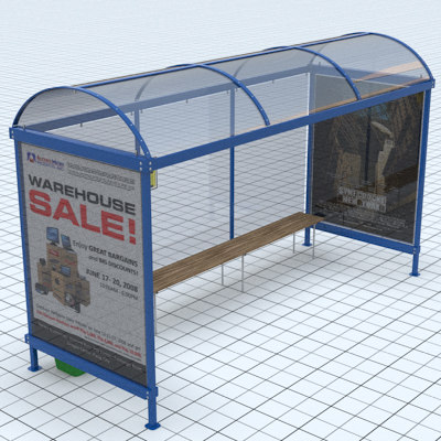 3ds max busstop bus stop