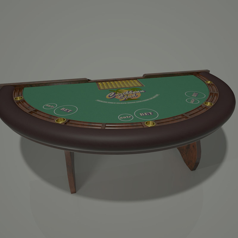 3d stud caribbean table