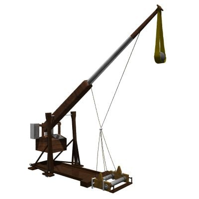 3d model authentic medieval catapult