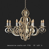 decorative crafts 7736 chandelier brass metal  iron  whought