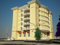 building residential complex 3d max