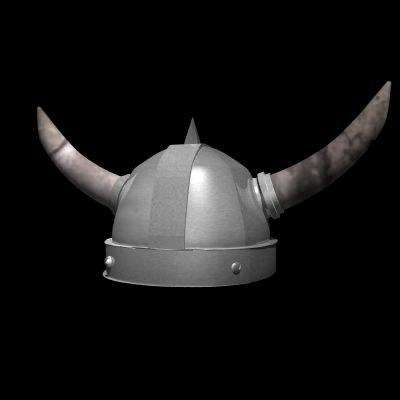 3d obj authentic viking war helmet