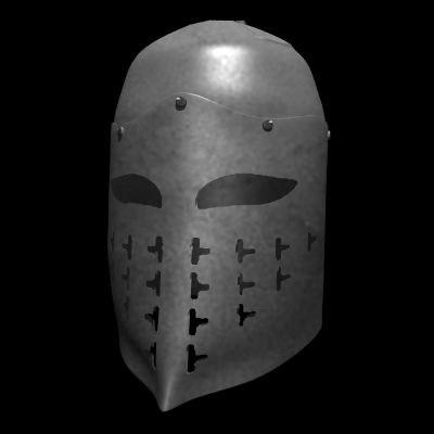 medieval spangenhelm great helm 3d model