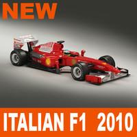 3d model italian f1 2010 1