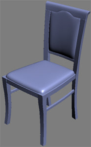 classical chair 3d max