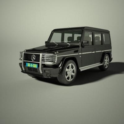 3d mercedes g class model