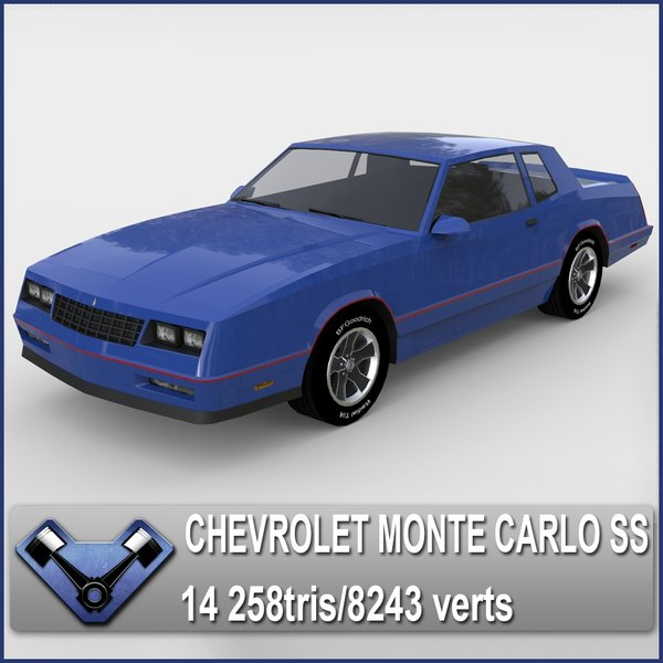 3d chevrolet monte carlo ss model