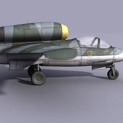 german jet fighter heinkel 3d 3ds