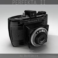 3d model perfekta ii vintage camera