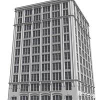 city skyscraper 3d model
