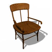 3ds oak chair