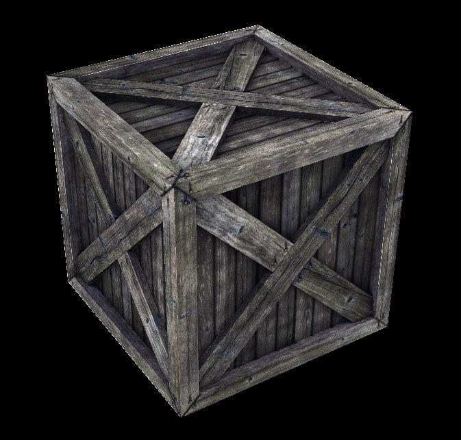 3d crate parachute model