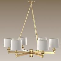 rober abbey chandelier 3d model