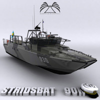 3d model stridsbat 90h