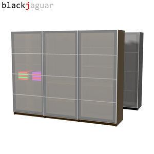free wardrobe sliding doors 3d model