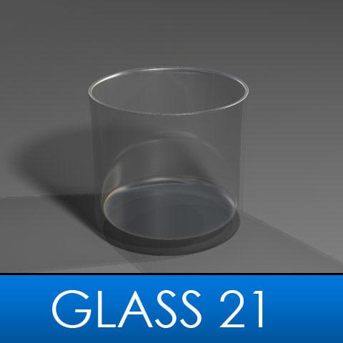 3d model drinking glass
