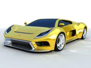 3d model ultra car