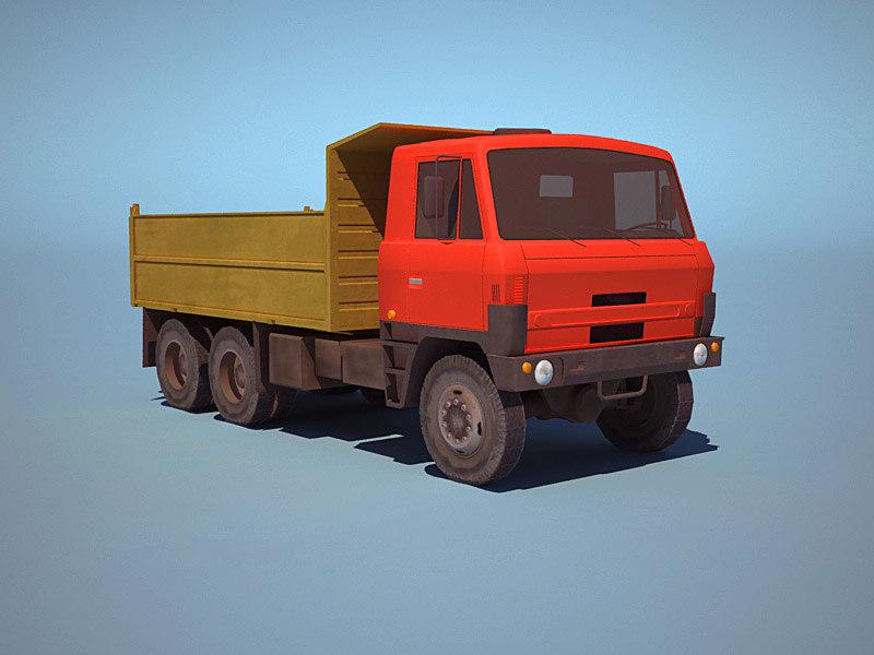 3d truck ussr low-poly model