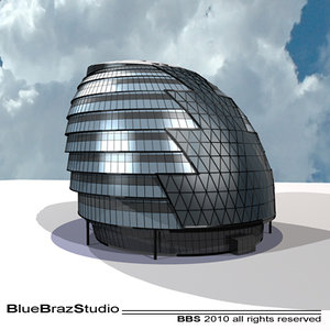 3d city hall london model